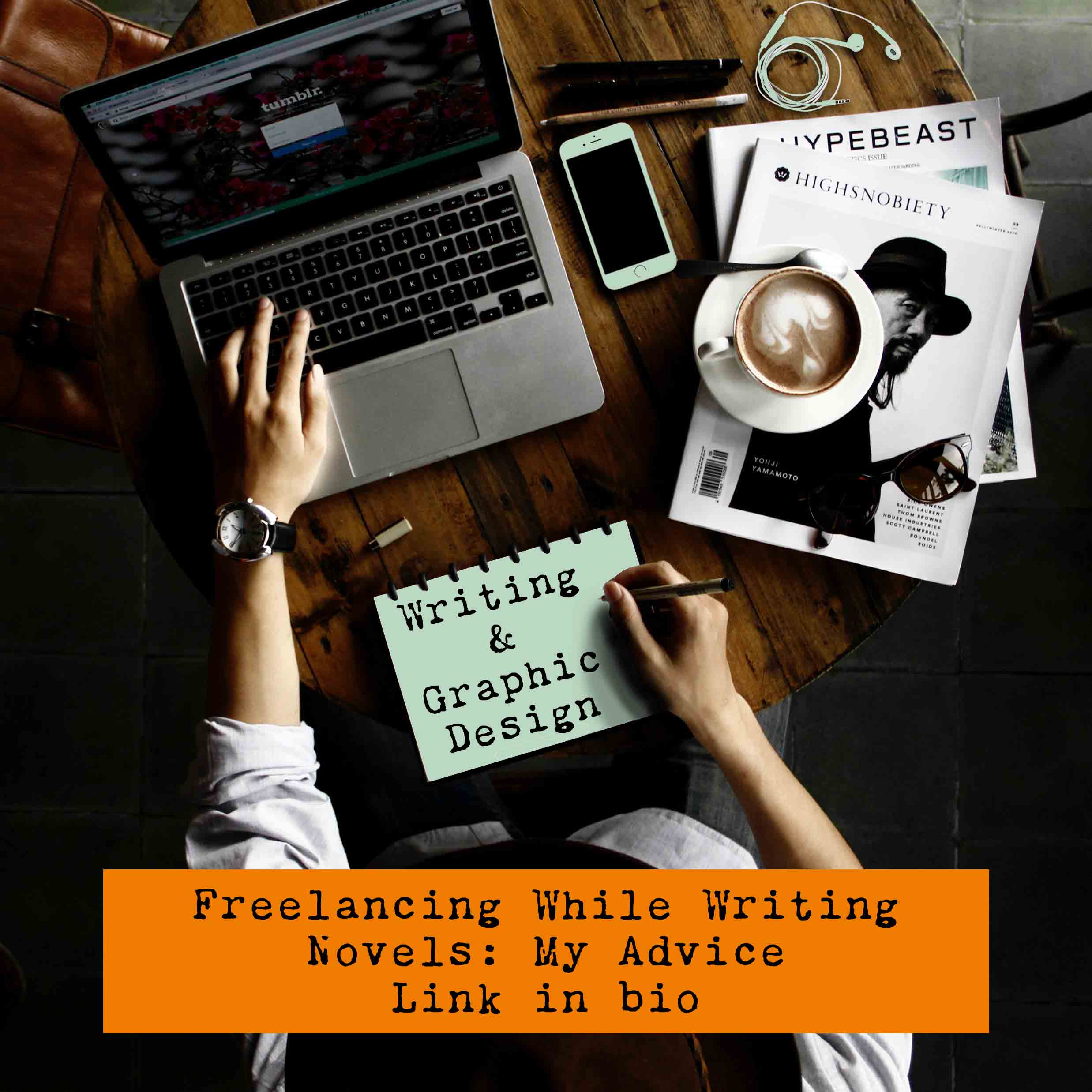 Freelancing in Graphic Design While Novel Writing